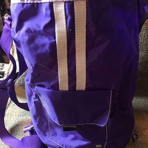 Purple Duffle Backpack
